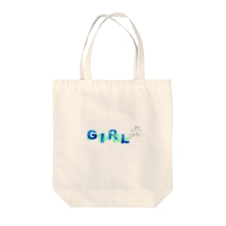 The 女の子 Tote bags