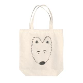 ふわふわわんこ Tote bags