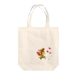 可愛いネズミちゃん ハート Tote bags