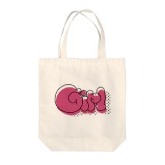 ガール(ドット) Tote bags