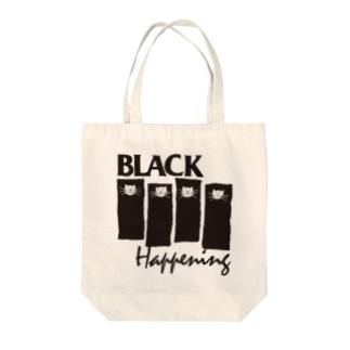 BLACK HAPPENING(ver2) Tote bags