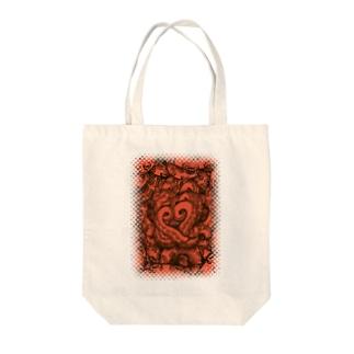 オクトパス Tote bags