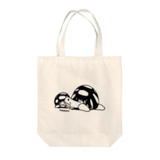 かめきち&ちびきち Tote bags
