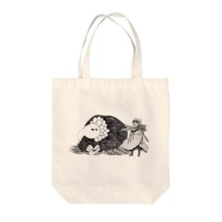 オールドバード・ヤングキッド Tote bags