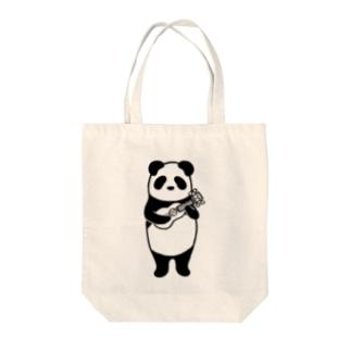 ウクレレパンダ Tote bags