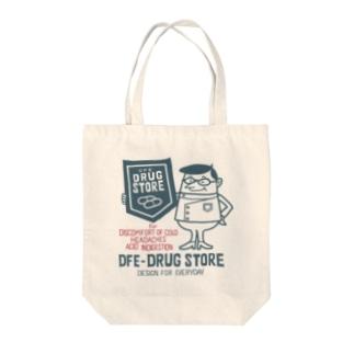 ドラッグストア&薬剤師★アメリカンレトロ 【片面】 Tote bags