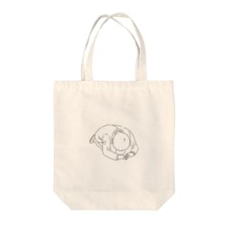 ゴメンネ Tote bags