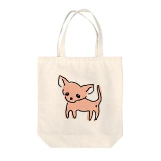 ゆるチワワ(オレンジ) Tote bags