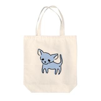 ゆるチワワ(ブルー) Tote bags