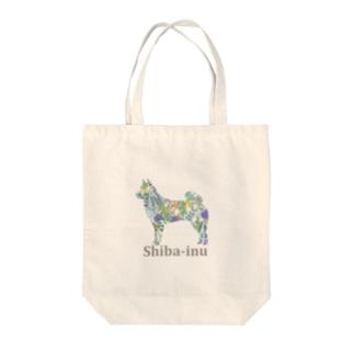 AtelierBoopのボタニカル 柴犬 Tote bags