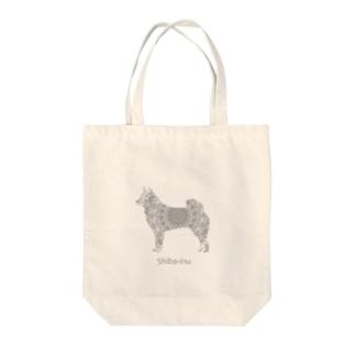 花月 柴犬 Tote bags