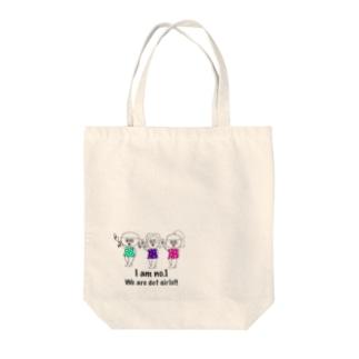 ドットガールちゃん Tote bags