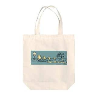 the birdway Tote bags