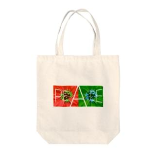 花peace Tote bags