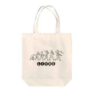 飲酒EVOLUTION(黒) Tote bags