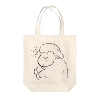 祈るいのりんモノクロ(大) Tote bags