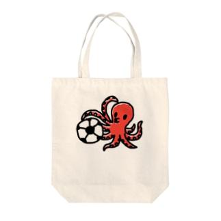 タコサッカー01 Tote bags