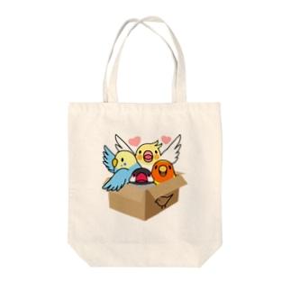拾ってくださいインコ【まめるりはことり】 Tote bags