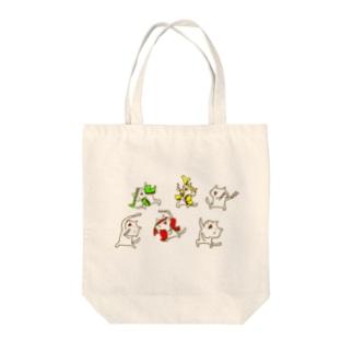 じろにゃんのオタ芸 Tote bags