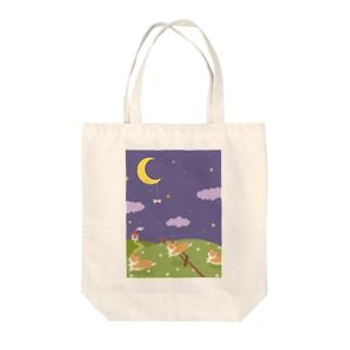 夢の中のコーギー Tote bags