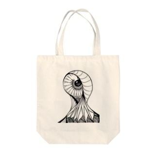 Creepy Eye Tote bags