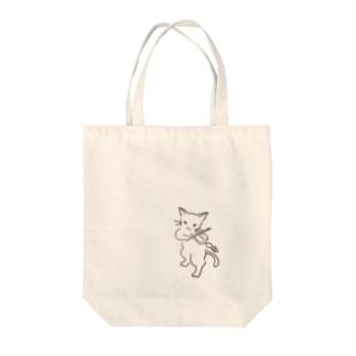 フィドル弾く猫 1 Tote bags