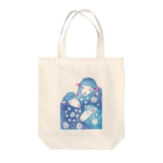 三匹のひつじ Tote bags
