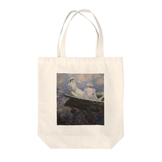 クロード・モネの『舟遊び』 Tote bags