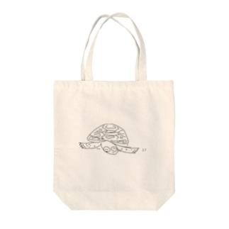 リクガメ かめ吉 Tote bags