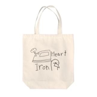 Iron heart Tote bags