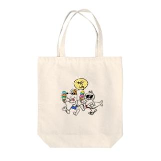 チャリティ ハッピーライフ Tote bags