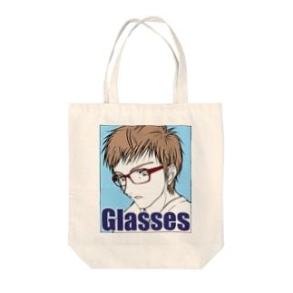 眼鏡男子 Tote bags