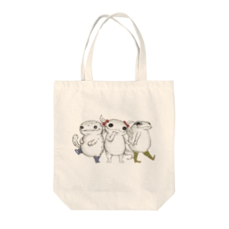 Amphibian MIKAERU Tote bags
