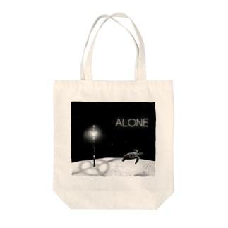 ALONE Tote bags