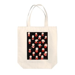 wearing a mask(サッカー観戦 赤黒) Tote bags