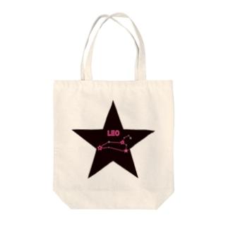 tomokomiyagamiのスタースタッズ星座 獅子座 Tote bags