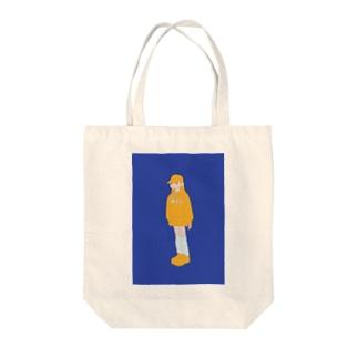 ひよっこ Tote bags