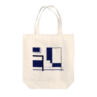 ランダムスクエア Tote bags