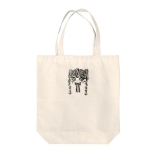 モノクロ少女 Tote bags