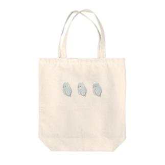 まめるりはことりの可愛いアメリカンホワイト マメルリハちゃん【まめるりはことり】 Tote bags