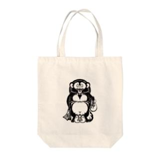 トライバルデザイナー鵺右衛門@仕事募集中のタヌキ Tote bags