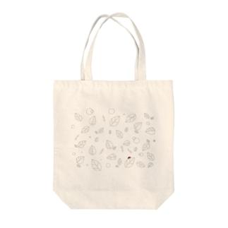 木の葉サンバ Tote bags
