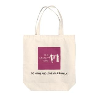 家族の時間(THE FAMILY TIME) ピンク Tote bags