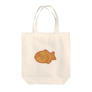 夕日色のたい焼き Tote bags