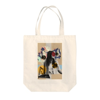 the girl  Tote bags