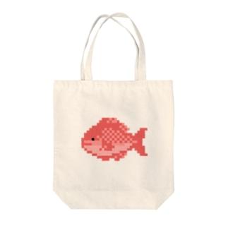 ドット絵のタイ Tote bags