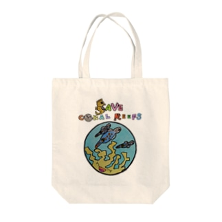 SAVE CORAL REEFS 2  Tote bags