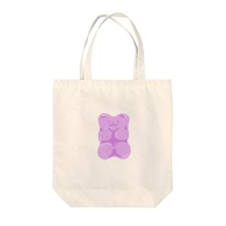 モチモチグミベア パープル Tote bags