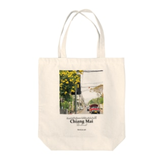 チェンマイの花とソンテウ Tote bags