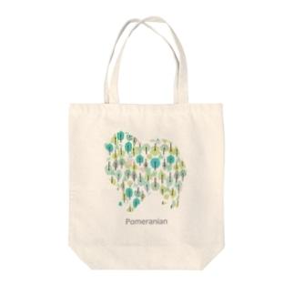 森 ポメラニアン Tote bags